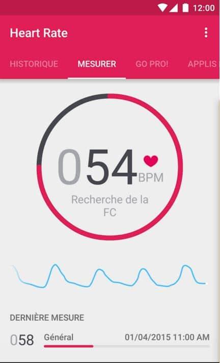 rythme cardiaque smartphone