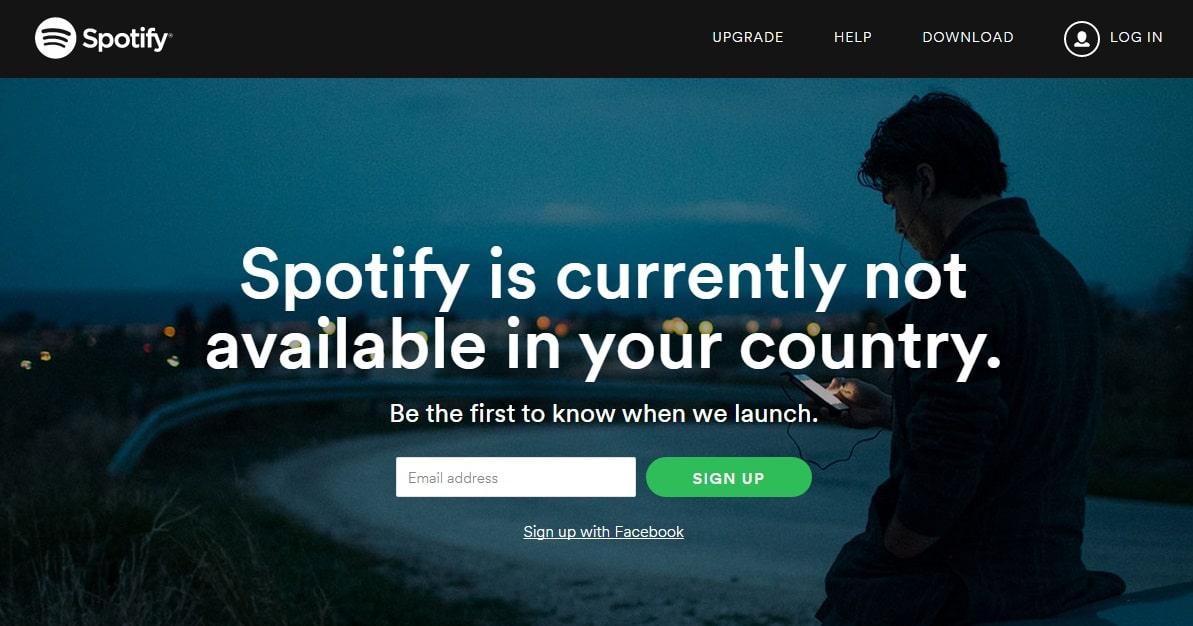 Spotify geolocalisation
