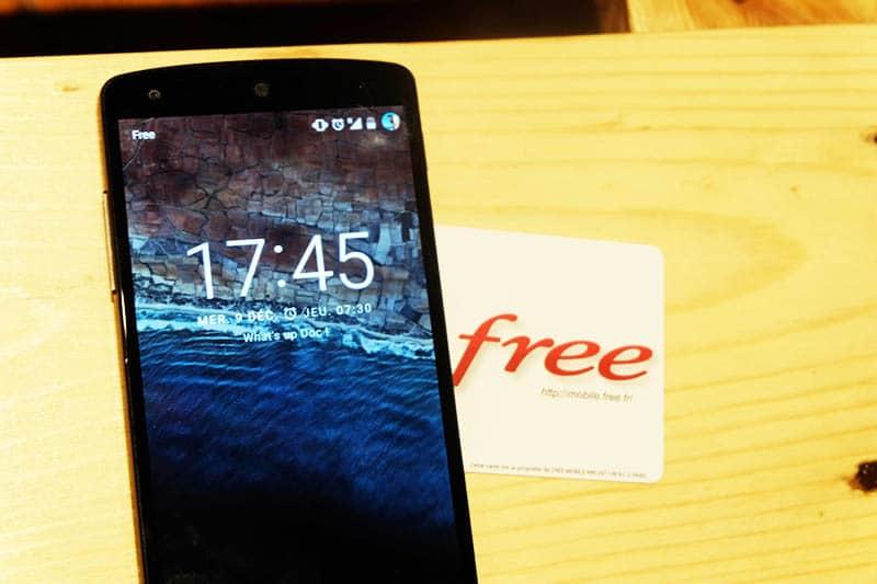 free mobile debits 4g