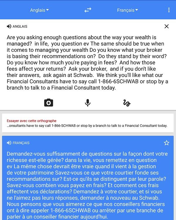 je peux essayer translation