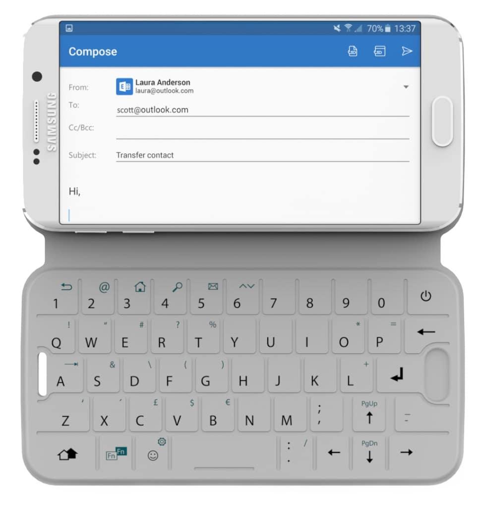 Slim Type : la housse de smartphone qui se transforme en clavier