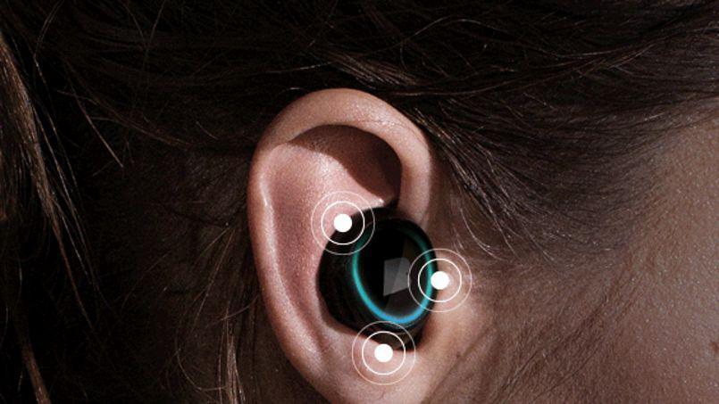 Un écouteur intra-auriculaire sans fil de Bragi
