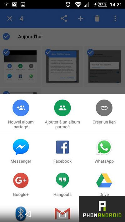 Google Photos album partage