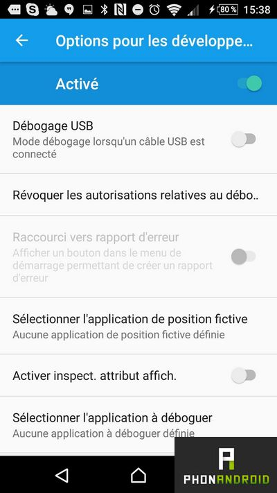 android position fictive