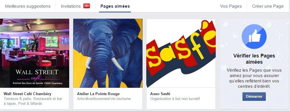 desabonner pages facebook