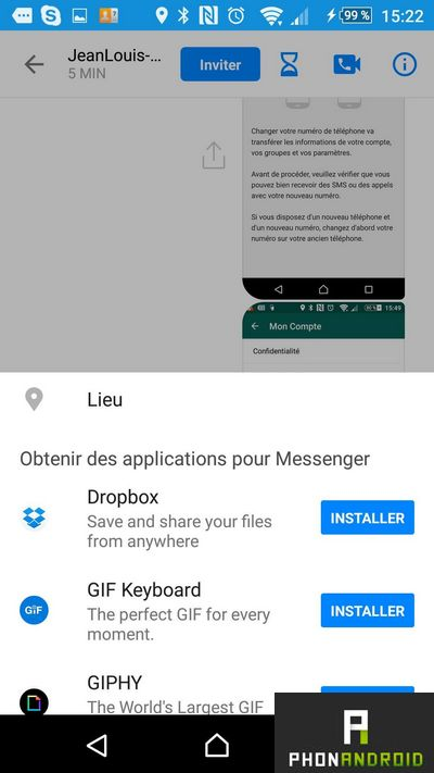 facebook messenger dropbox