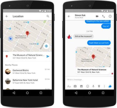facebook messenger localisation