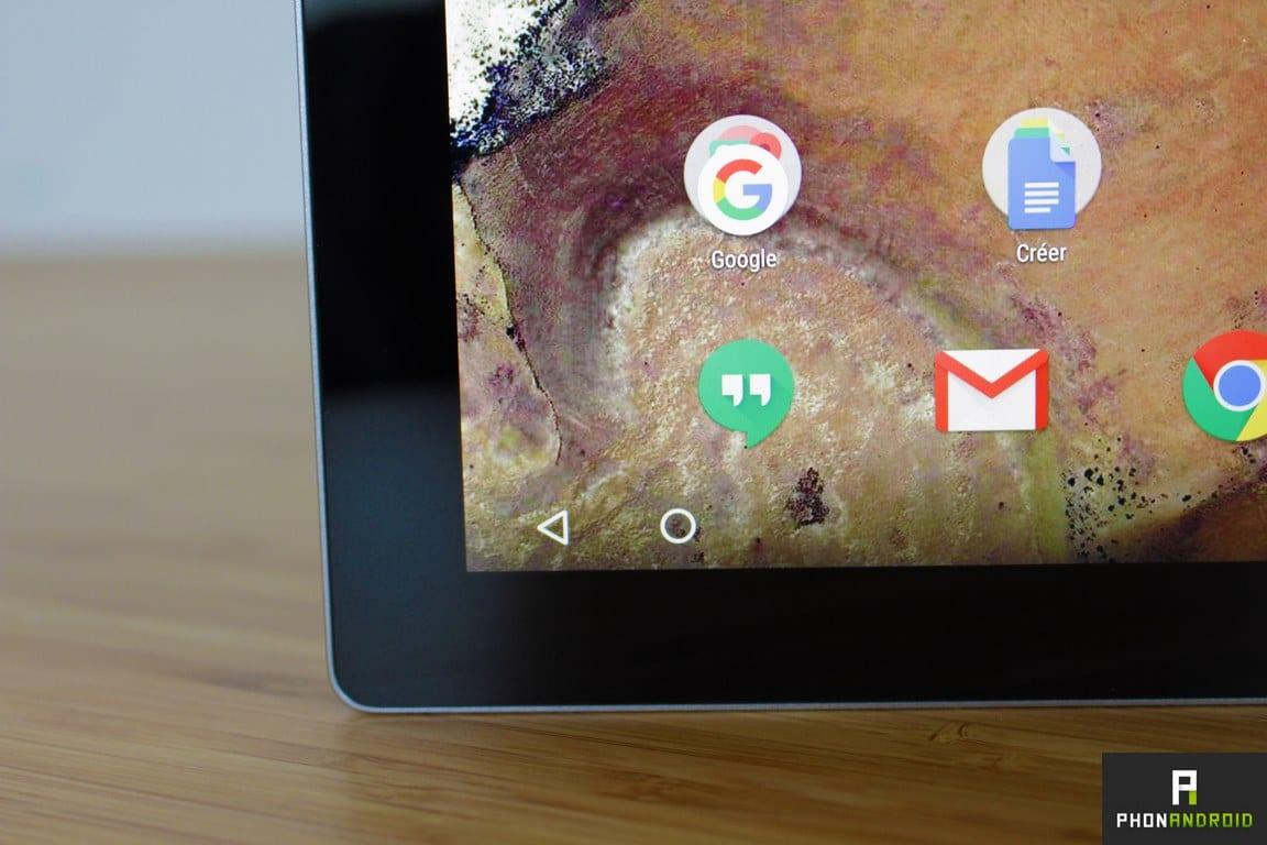 google pixel c touche tactile