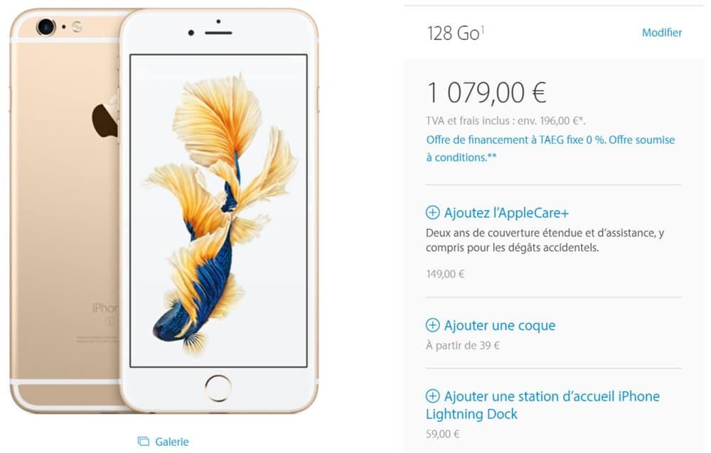iphone 6s plus 128 go