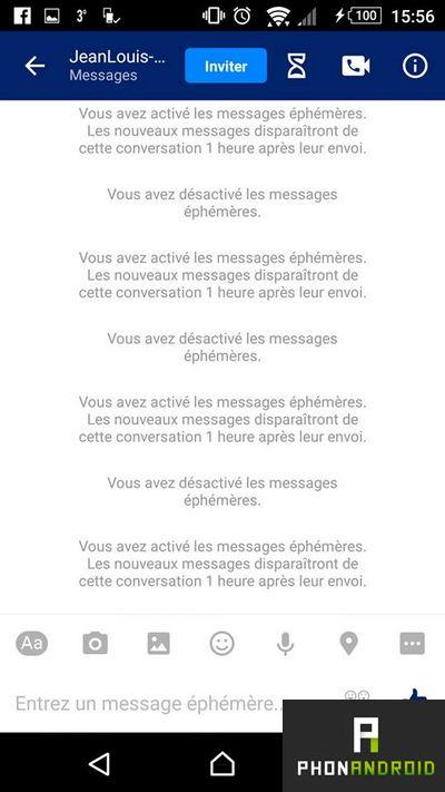facebook messenger messages ephemeres