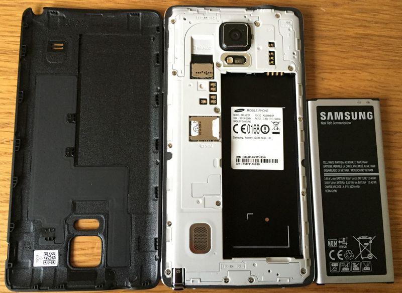 retirer batterie smartphone