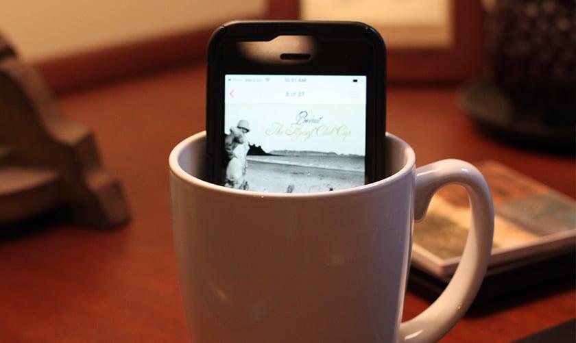 smartphone tasse