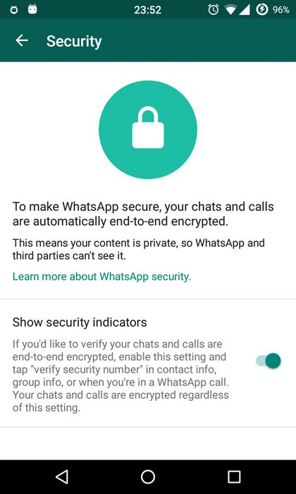 whatsapp securite