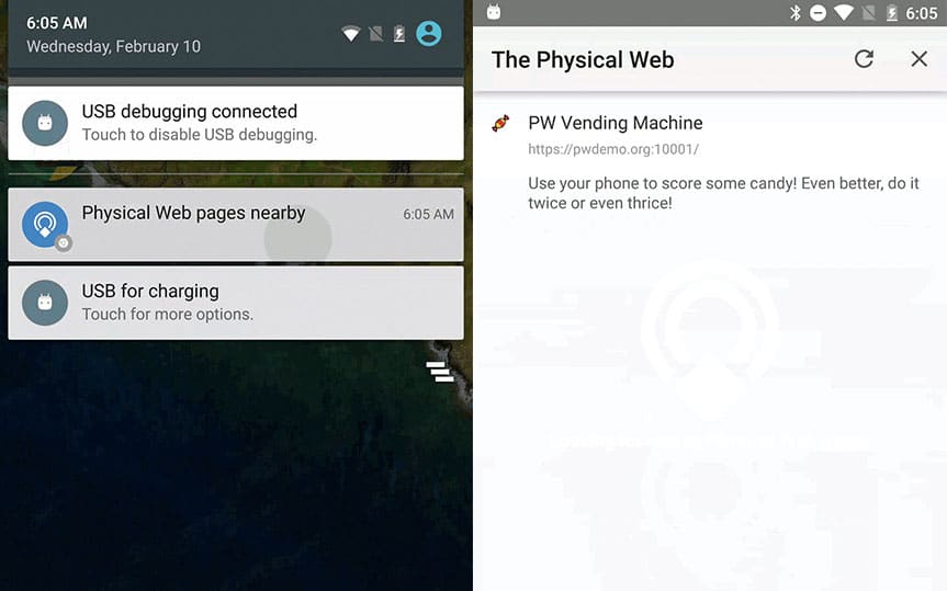 Chrome Android intègre le Physical Web