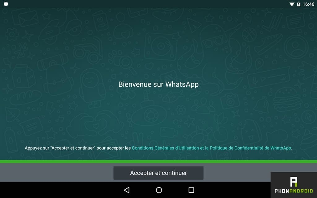installer whatsapp tablette android