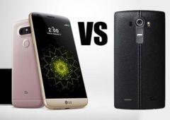 LG G5 versus LG G4