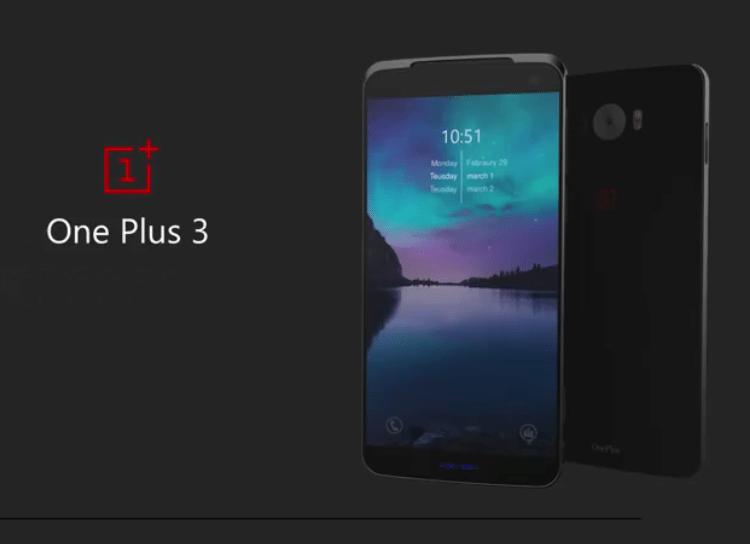 Concept de OnePlus 3