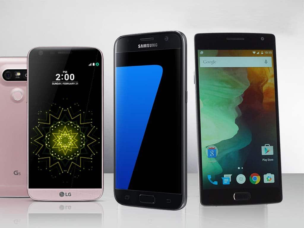 LG G5 et Galaxy S7 VS OnePlus 2