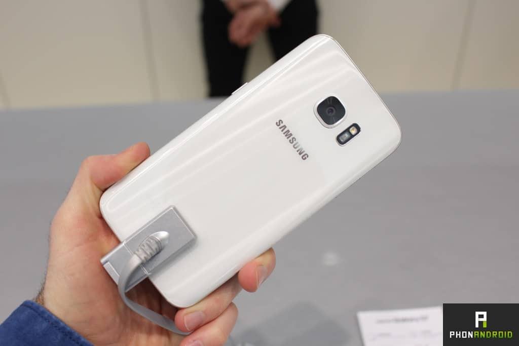 Arrière du Galaxy S7 Blanc