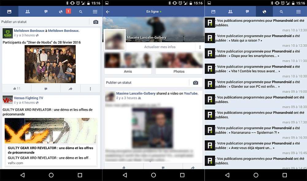 Facebook Lite sur Android