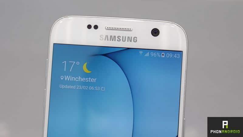 Galaxy S7 flash frontal