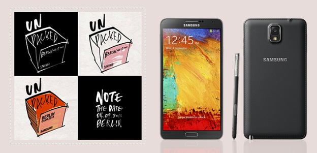 galaxy note 3 unpacked invitation