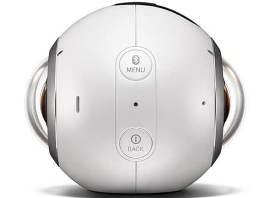 Samsung Gear 360 boutons