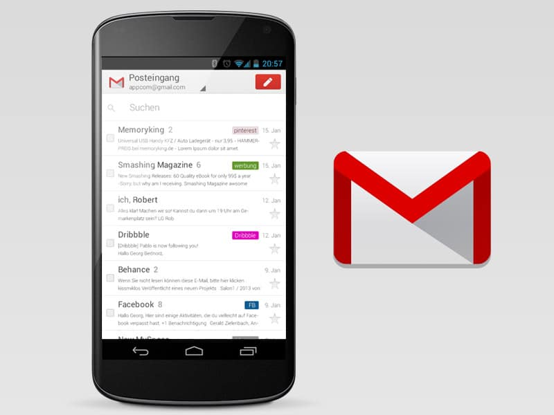 gmail android mobile