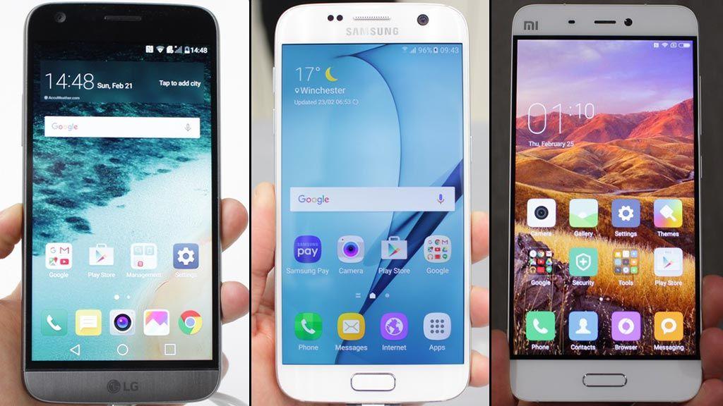 LG G5 Galaxy S7 Xiaomi Mi5 comparatif