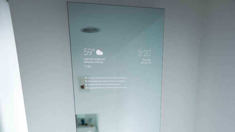 un incroyable miroir android pour votre salle de bains