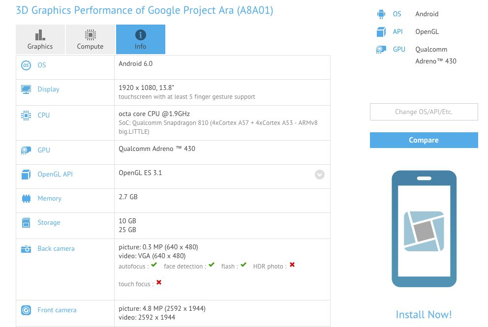 Project Ara GFXBench