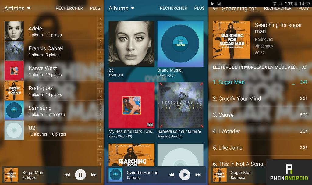 samsung galaxy a5 2016 application musique