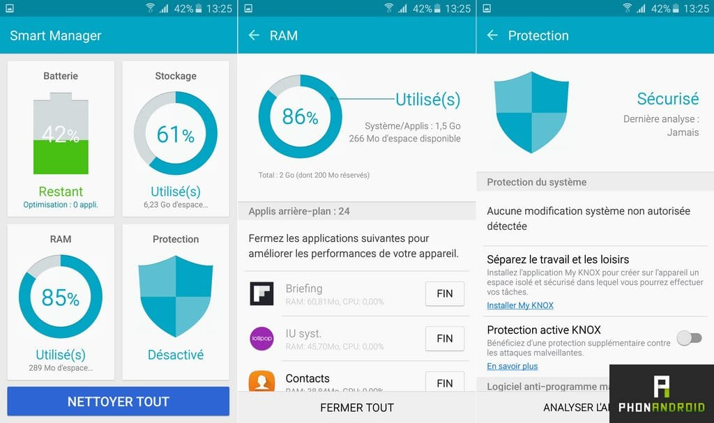 samsung galaxy a5 2016 smart manager