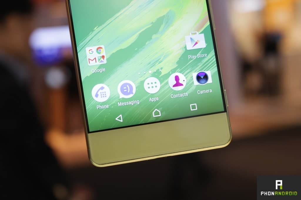 Sony Xperia XA interface