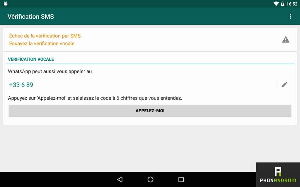 verification vocale whatsapp