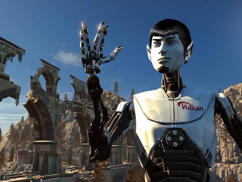Spock sur Vulcan