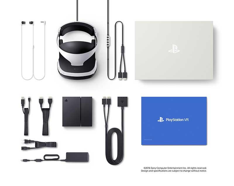 PlayStation VR contenu de la boite