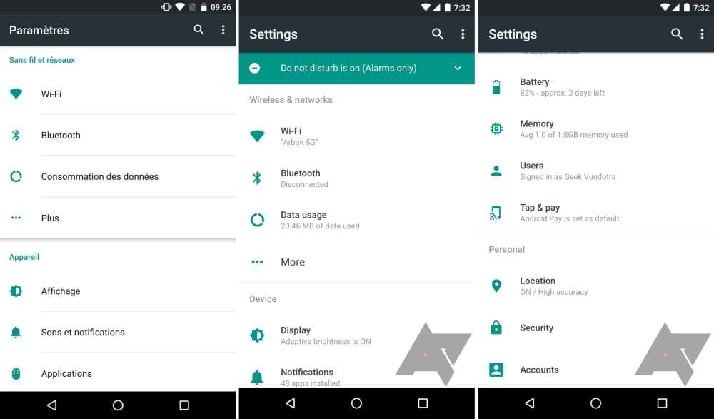 android-n-menu-parametres