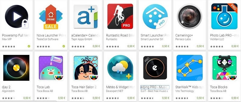 applications play store promo