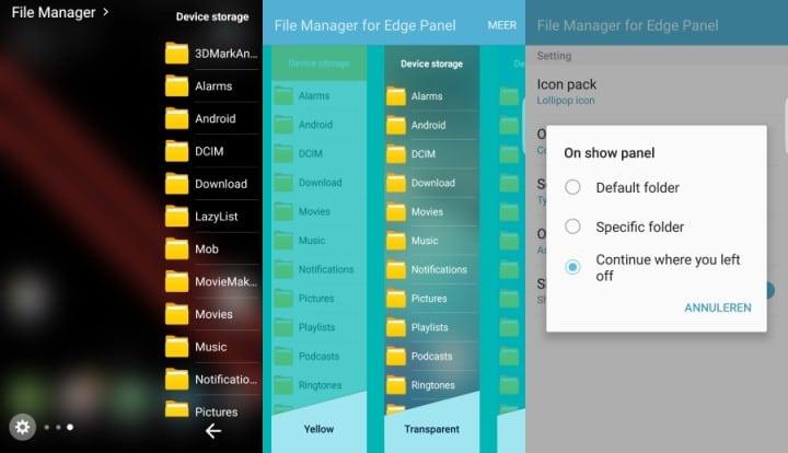 Galaxy S7 Edge explorateur fichiers