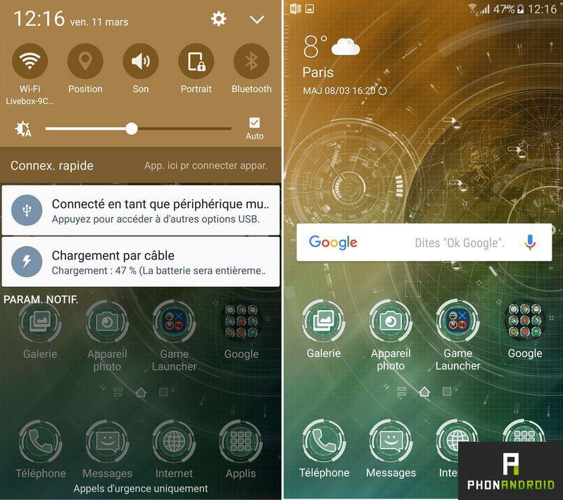 Galaxy S7 themes