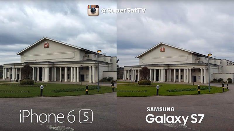 Comparaison photo S7 et 6S