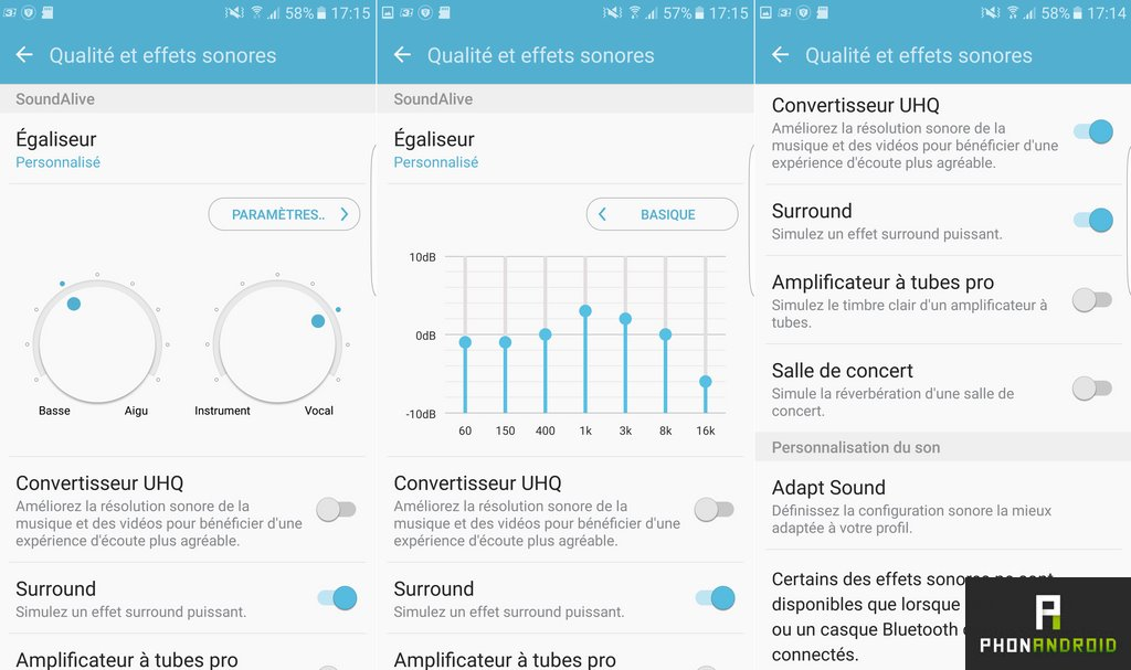 galaxy s7 qualite effet sonore
