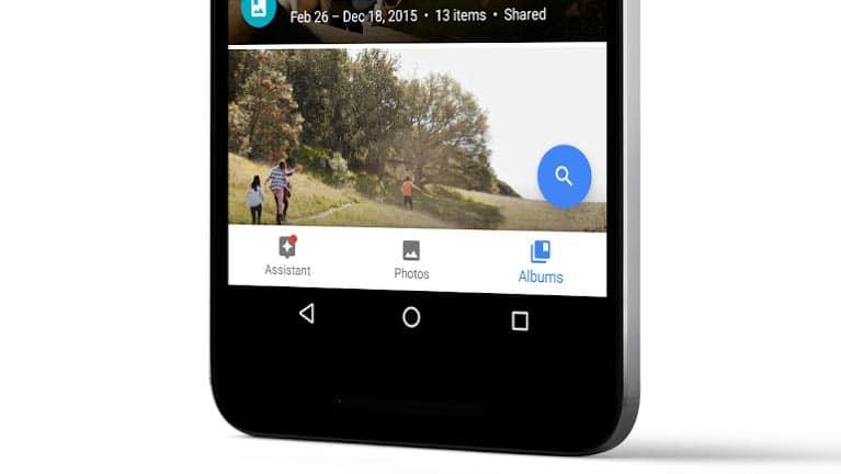 Nouvelle interface de Google Photos