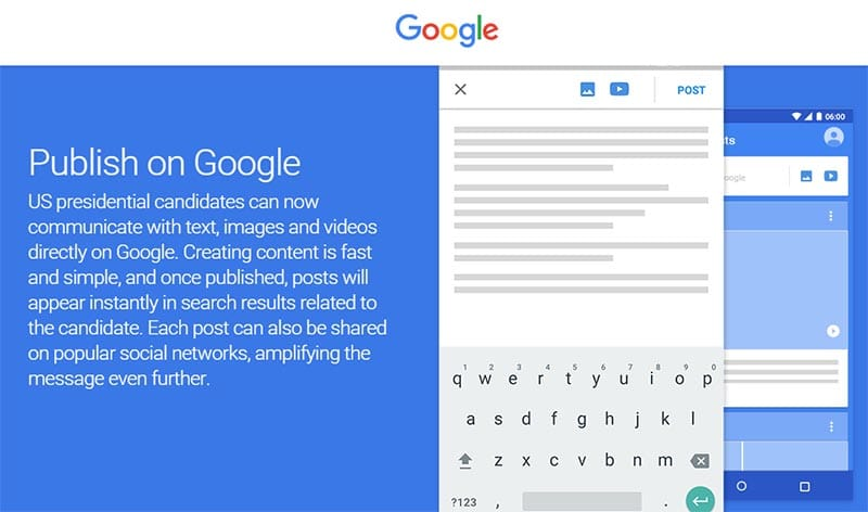 google posts search reseau social