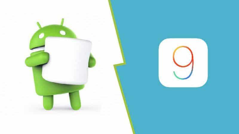 ios 9 android marshmallow