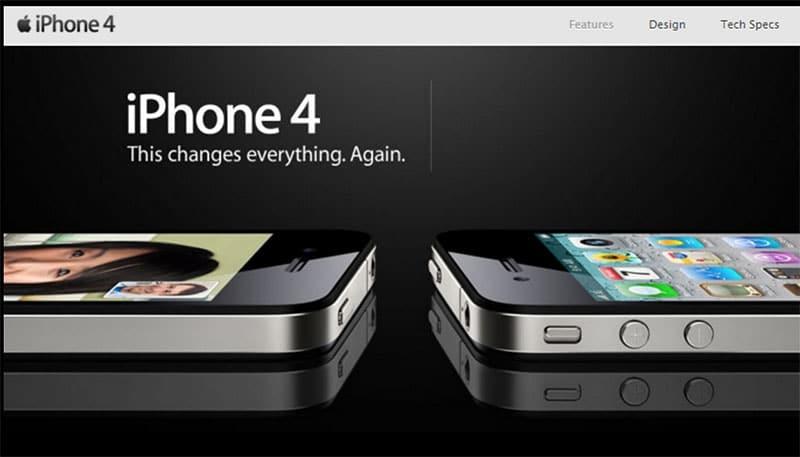 iphone 4 slogan