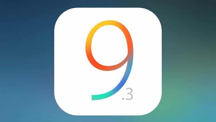 iOS 9.3 version finale