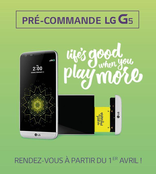 precommande LG G5