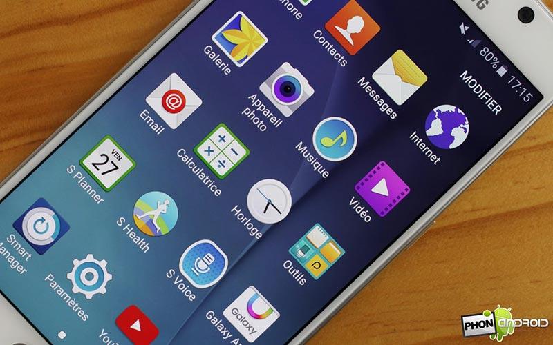 Touchwiz sur le Galaxy S6